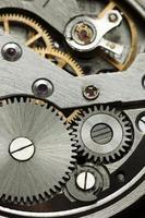 vieux mécanisme d'horloge rétro photo