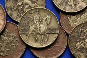 pièces de monnaie de la république tchèque
