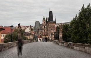 Pont charles historique à prague, république tchèque photo