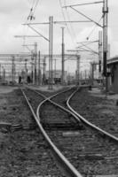 Railyards - noir et blanc photo
