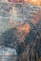 camions dans la mine d'or de super fosse australie photo