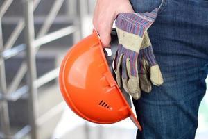 travailleur dans un chantier de construction photo