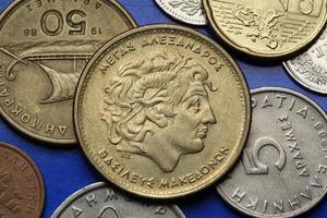 pièces de monnaie de la grèce photo