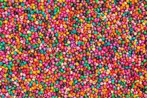 perles colorées, fond photo