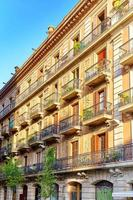 beau paysage de la vue urbaine barcelone photo