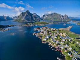 reine pittoresque en Norvège photo