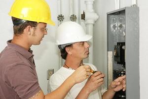 panneau de câblage électriciens photo