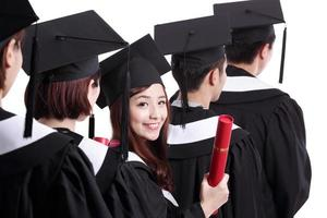 groupe d'étudiants diplômés heureux
