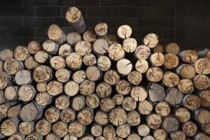 bois dans la cheminée.