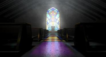 église vitrail photo