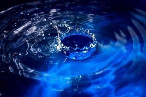 l'eau bleue photo