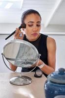 femme d'affaires de maquillage