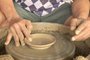 façonner un plat d'argile