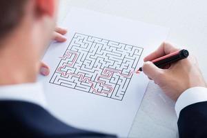 gros plan, main, résolution, puzzle photo