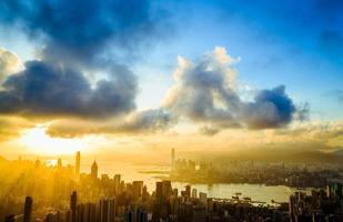 rayon de soleil de la ville photo