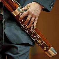 bassoniste sur la musique de chambre photo