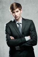 portrait, jeune, homme affaires photo