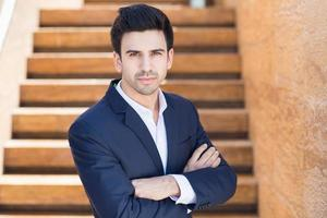 portrait, confiant, homme affaires photo