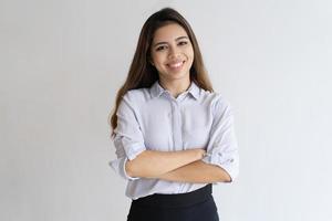 portrait de jeune gestionnaire heureux réussi photo
