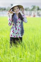 belle fermière vietnamienne photo