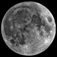 lune - isolée sur fond noir photo