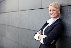 femme d'affaires confiant