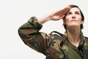 portrait, femme, soldat photo