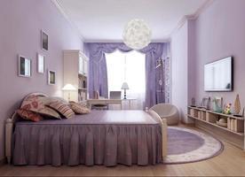 idée lumineuse chambre provence photo