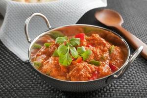 poulet au curry indien jalfrezi photo