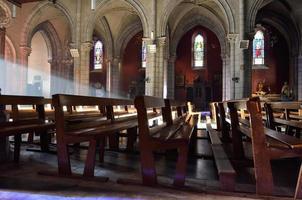 à l'intérieur de la cathédrale catholique romaine photo