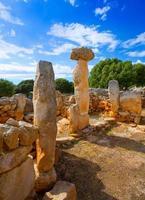 Taules de Minorque Torre de Gaumes Galmes aux Baléares photo