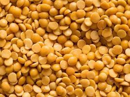 Fond de nourriture de lentilles de dhal indien non cuit