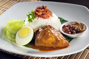 riz au curry de poulet