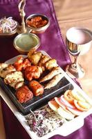 plateaux de kebab