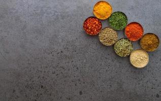 épices mélange fond de sélection.