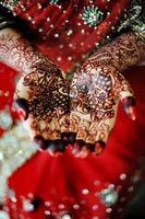 main de la mariée indienne photo