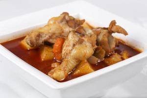 poulet au curry jaune photo