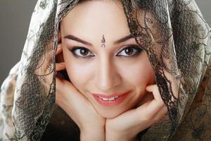 visage de beauté indienne photo