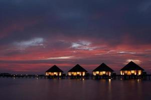 villas sur l'eau photo