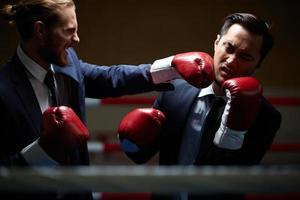 se battre avec un rival commercial photo