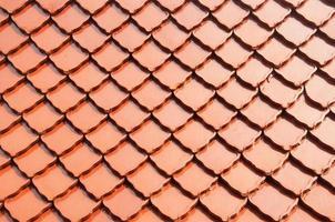 Tuile de toit de temple de style thaï photo