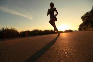 coureur, athlète, courant, à, bord mer, road., vendange, effet