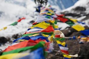 drapeaux de prières bouddhistes photo