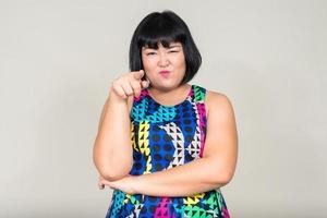 portrait de belle femme asiatique en surpoids photo