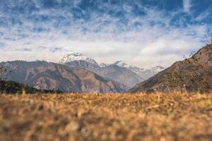 montagnes de l'himalaya, népal photo