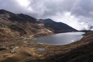 lac sous ciel nuageux photo