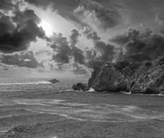 le phare de l'île grecque ios photo