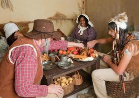 Thanksgiving pèlerins manger photo