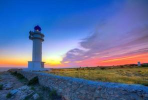 barbaria berberia cap phare formentera coucher de soleil photo
