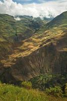 belle ville andine de cañar en azogues équateur photo